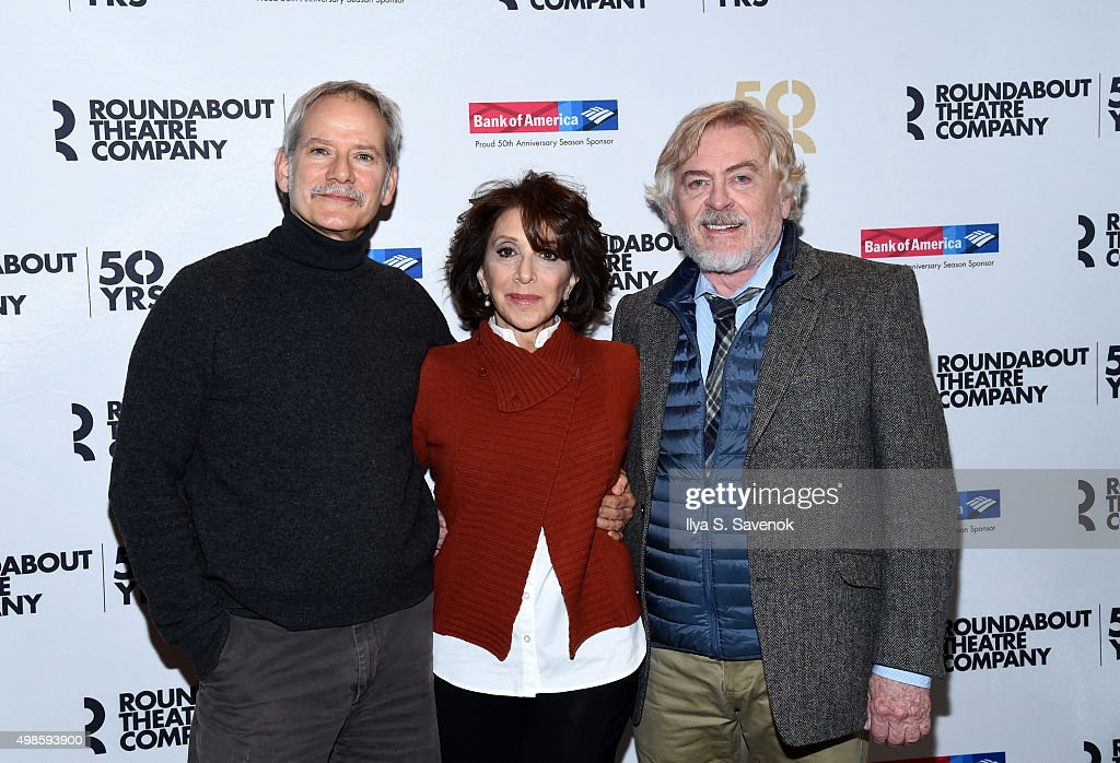 Campbell Scott Andrea Martin and Daniel Davis attend 'Noises Off' Broadway Cast Photocall on November 24 2015 in New York City