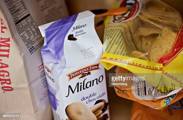 Campbell Soup Co Pepperidge Farm brand Milano cookies are arranged for a photograph in Tiskilwa Illinois US on Tuesday Feb 24 2015 Campbell Soup Co...