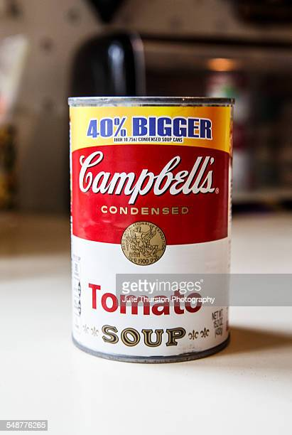 Campbell's condensed Tomato Soup in a 40 percent larger can Traditional canned soup ready to heat for lunch dinner or any meal