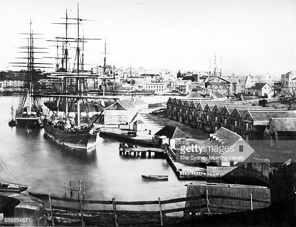 Campbell's Cove and Storehouse in The Rocks in Sydney in the mid1800s SMH Picture by STAFF