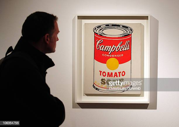 'Campbell's Soup Can ' by Andy Warhol is on display during a press preview of Christie's Contemporary Art Autumn sale in New York October 29 2010...