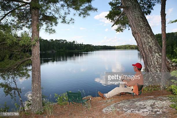 Camper Enjoying Spiritual Moment