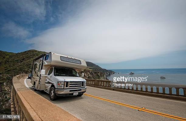Camper RV on  Highway 1