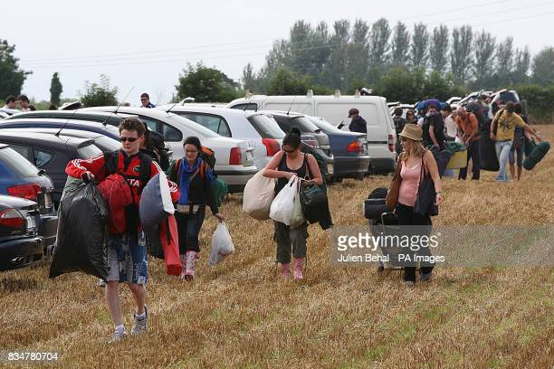 Campers arrive at Ireland's largest boutique music festival The Electric Picnic which opens today The festival features acts including the Sex...