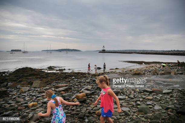 Campers comb the tidal area for creatures during free time at Fish Camp The husband and wife team of Jeff and Deb Sandler better known as Mr and Mrs...