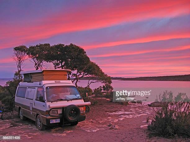Campervan at Sunset South Australia