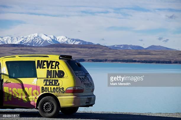 Campervan with attitude pictured at Lake Pukaki