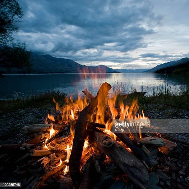 Campfire, Kinloch, Lake Wakatipu, NZ