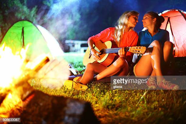 Campfire lesbian romance.