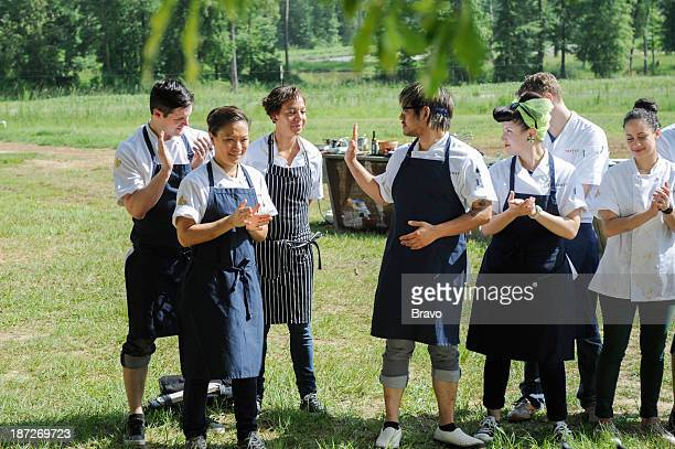TOP CHEF 'Campfires Cream Cheese and Countryside' Episode 1106 Pictured Contestants Nick Elmi Shirley Chung Nina Compton Brian Huskey Sara Johannes...
