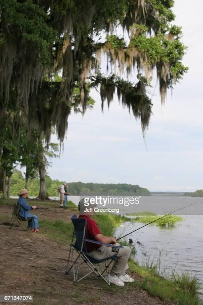 Campground fishing at Chattahoochee River wetland
