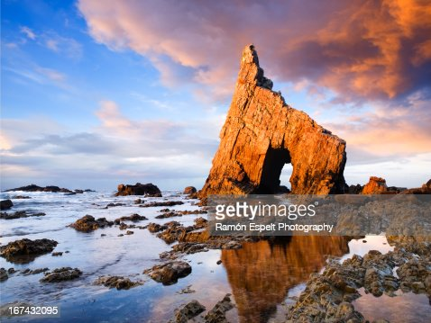 Campiecho beach in Asturias, Spain : Foto de stock