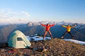 Camping acrobatics