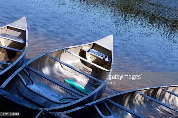 camping aluminum canoes
