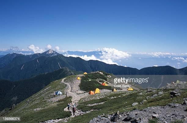 Camping area near summit, Kitadake