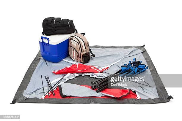 Camping-Ausrüstung Isoliert
