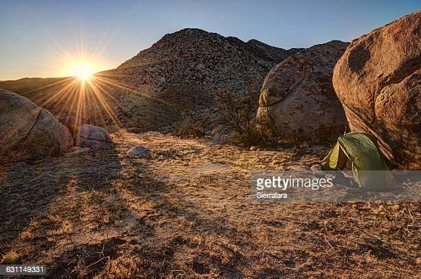 Camping in Anza-Borrego Desert State Park, California, America, USA