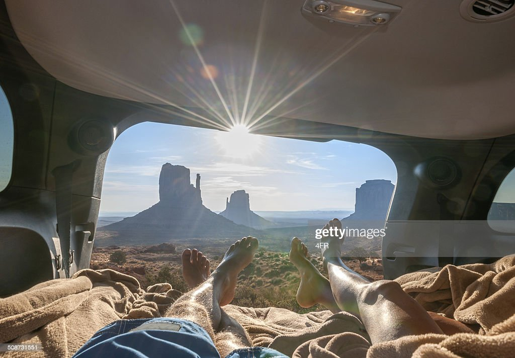Camping, Monument Valley : Stock Photo