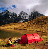Camping near the Dolomites