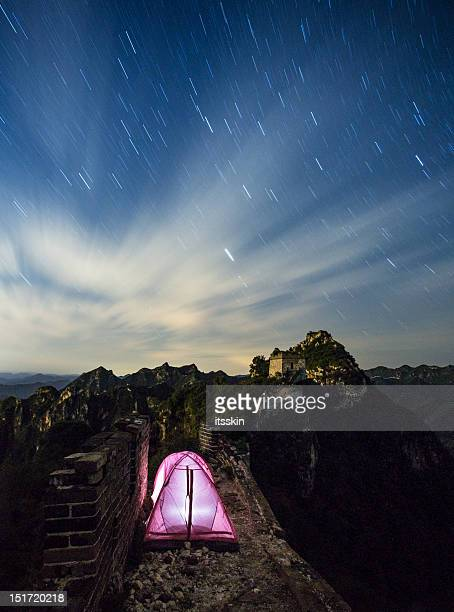 Camping on Great Wall of China