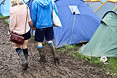 Camping site at Glastonbury Festival 2011