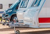 RV Camping Storage. Secured Parking Lot For Recreational Vehicles.