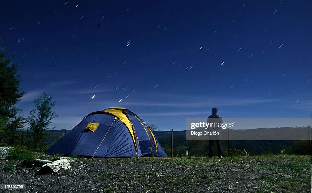 Camping under stars : Stock Photo