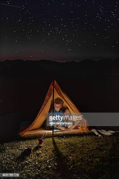 Camping under the starry sky