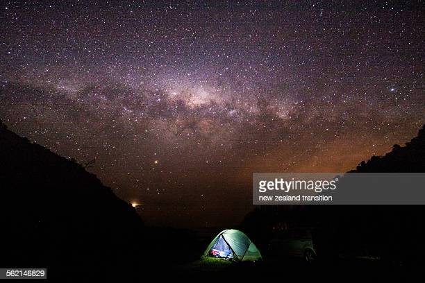 Camping under the starry sky, Wairarapa