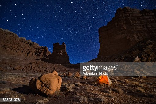 Camping Under the Stars in Canyon Country Utah : Photo