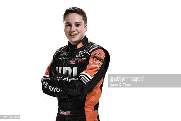 NASCAR Camping World Truck Series driver Christopher Bell poses for a photo during the NASCAR 2017 Media Tour at the Charlotte Convention Center on...