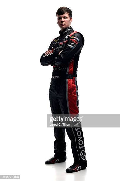 Camping World Truck Series driver Erik Jones poses for a portrait during the 2015 NASCAR Media Day at Daytona International Speedway on February 12...