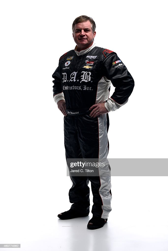 Camping World Truck Series driver <a gi-track='captionPersonalityLinkClicked' href=/galleries/search?phrase=Joe+Nemechek&family=editorial&specificpeople=176518 ng-click='$event.stopPropagation()'>Joe Nemechek</a> poses for a portrait during the 2015 NASCAR Media Day at Daytona International Speedway on February 12, 2015 in Daytona Beach, Florida.