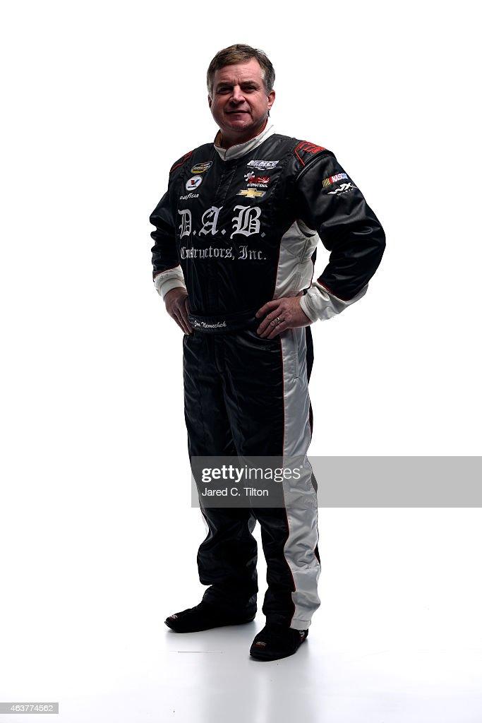 Camping World Truck Series driver Joe Nemechek poses for a portrait during the 2015 NASCAR Media Day at Daytona International Speedway on February 12...