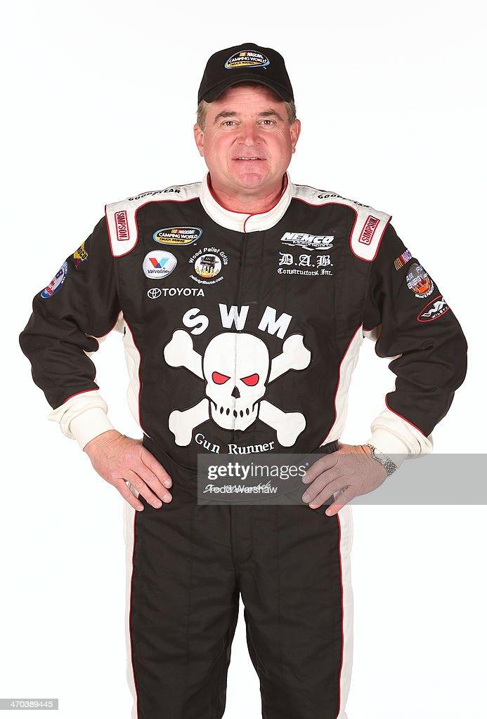 Camping World Truck Series driver Joe Nemechek poses for a portrait at Daytona International Speedway on February 19 2014 in Daytona Beach Florida
