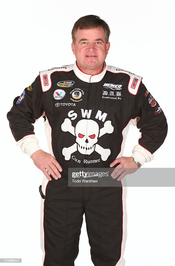 Camping World Truck Series driver <a gi-track='captionPersonalityLinkClicked' href=/galleries/search?phrase=Joe+Nemechek&family=editorial&specificpeople=176518 ng-click='$event.stopPropagation()'>Joe Nemechek</a> poses for a portrait at Daytona International Speedway on February 19, 2014 in Daytona Beach, Florida.