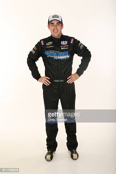 Camping World Truck Series driver Timmy Hill poses for a photo at Daytona International Speedway on February 17 2016 in Daytona Beach Florida