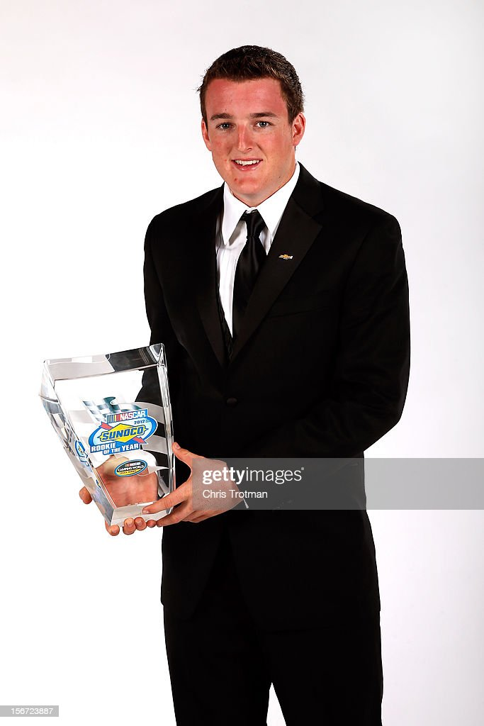Camping World Truck Series driver Ty Dillon poses with the Rookie of the Year Award during the NASCAR Nationwide Series And Camping World Truck Awards Banquet at Loews Miami Beach on November 19, 2012 in Miami Beach, Florida.