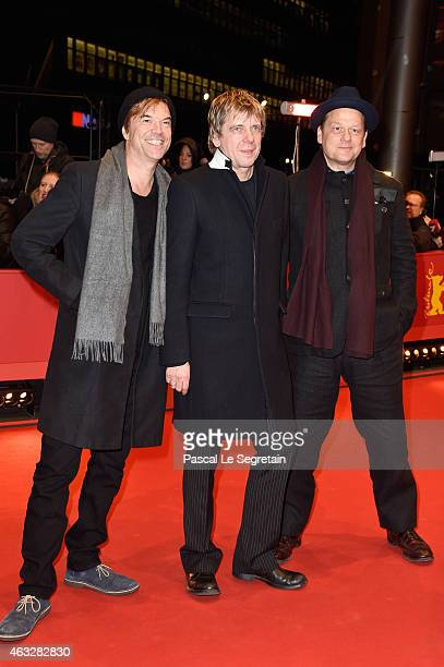 Campino Andreas Meurer and Andreas von Holst attend the 'The American Friend' premiere during the 65th Berlinale International Film Festival at...
