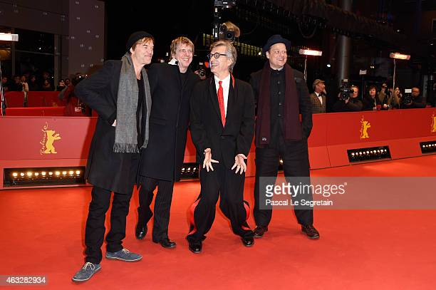 Campino Andreas Meurer Director Wim Wenders and Andreas von Holst attends the 'The American Friend' screening during the 65th Berlinale International...