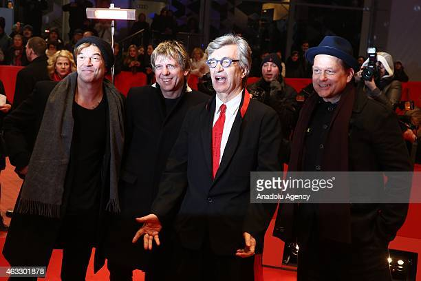 Campino Andreas Meurer director Wim Wenders and Andreas von Holst attend 'The American Friend' premiere during the 65th Berlin International Film...