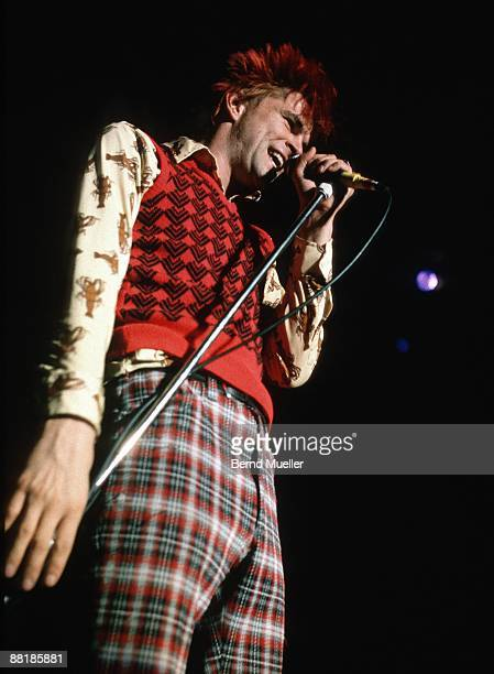 Campino of German punk band Die Toten Hosen performs on stage at the Jurahalle in Neumarkt Germany in September 1990
