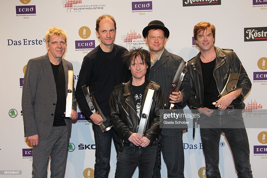 Campino ( Tote Hosen) poses at the Echo award 2014 winners board at Messe Berlin on March 27, 2014 in Berlin, Germany.