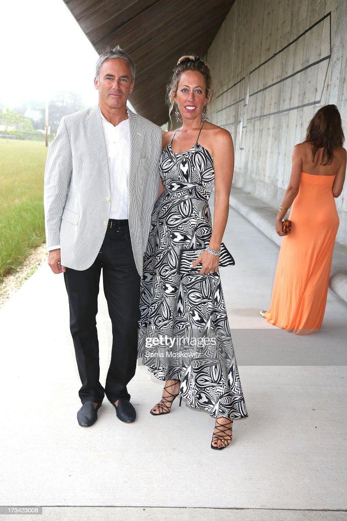 Campion Platt and Tatiana Platt attend the Parrish Art Museum 2013 Midsummer Party on July 13, 2013 in Southampton, United States.