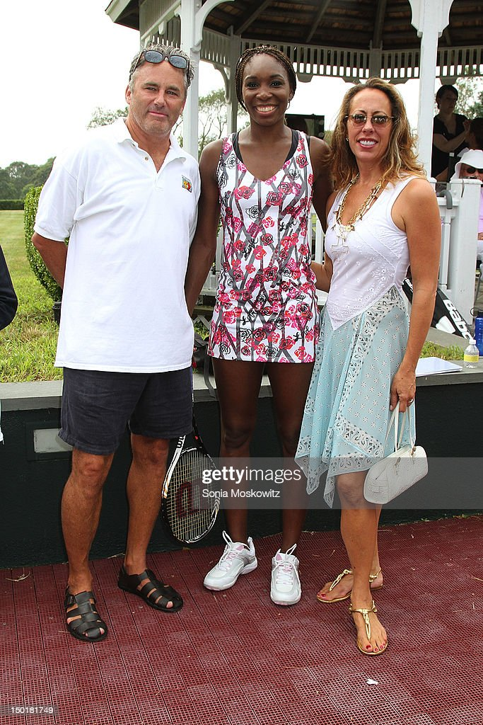 Campion Platt, <a gi-track='captionPersonalityLinkClicked' href=/galleries/search?phrase=Venus+Williams&family=editorial&specificpeople=171981 ng-click='$event.stopPropagation()'>Venus Williams</a>, and Tatiana Platt attend the EleVen by <a gi-track='captionPersonalityLinkClicked' href=/galleries/search?phrase=Venus+Williams&family=editorial&specificpeople=171981 ng-click='$event.stopPropagation()'>Venus Williams</a> party>> on August 11, 2012 in Southampton, New York.