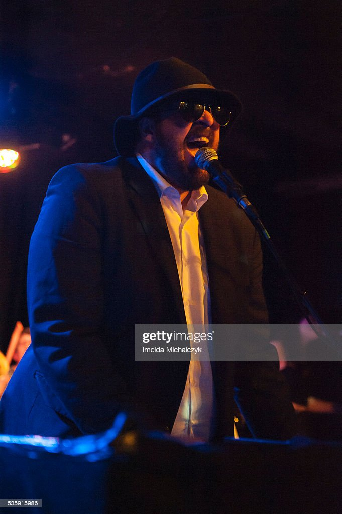 BC Camplight performs on stage at The Lexington on May 30, 2016 in London, England.