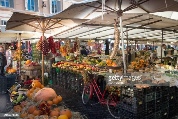 Campo De Fiori Market in Old Rome