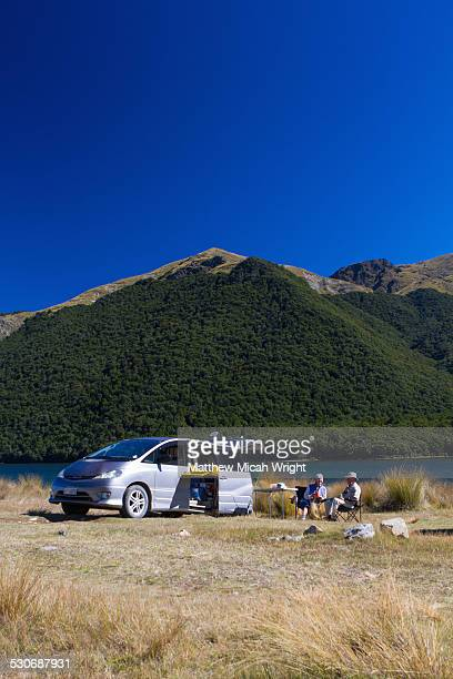 A campsite along the Mavora Lake