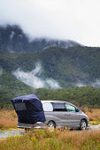 A campsite in the Fiordland National Park