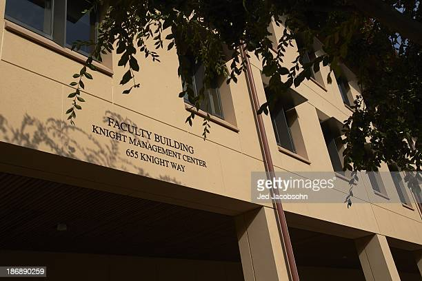 Exterior view of Knight Management Center business school building on Stanford University campus Palo Alto CA CREDIT Jed Jacobsohn